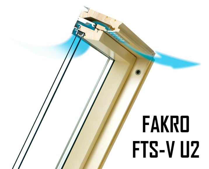 Мансардное окно ФАКРО FTS-V U2 114-140