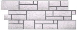 Фасадные панели BURG (ЗАМОК) - цвет Платиновый - ZAVODKM