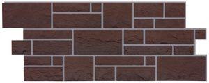 Фасадные панели BURG (ЗАМОК) - цвет Земляной - ZAVODKM