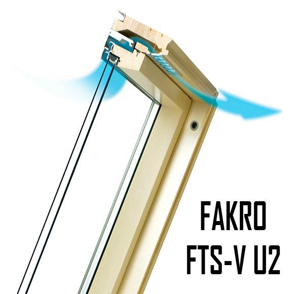 Фото Мансардное окно купить ФАКРО FTS-V U2 – 78-160 - ZAVODKM