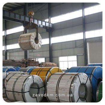 рулон лист с полмерным покрытием1003 цвет стали - завод км